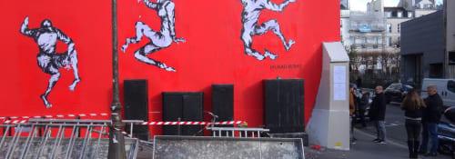 Street Murals by Murad Subay seen at Marin D'Eau Douce, Paris - The Last Dance of the Dead