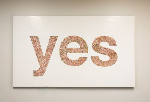 "Paintings by ANTLRE - Hannah Sitzer seen at Google RWC SEA6, Redwood City - ""yes"""