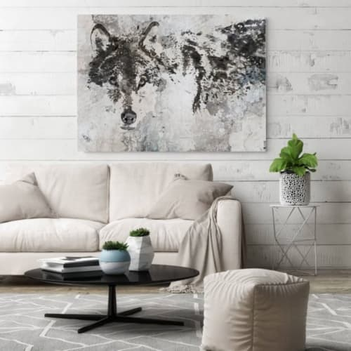 Paintings by Irena Orlov at Private Residence, Los Angeles - Wolf Canvas Painting