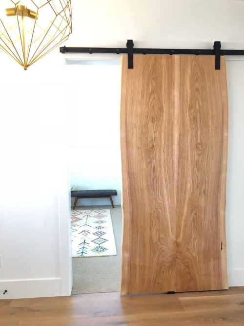 Furniture by Stockton Heritage seen at Private Residence, Lindon - Sliding Barn Door - Live Edge Slab - Ash
