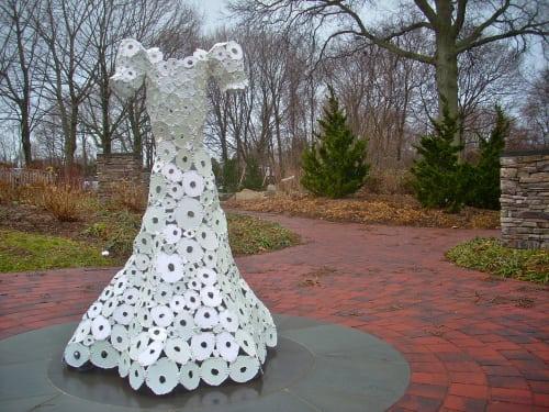 Public Sculptures by Thea Lanzisero seen at Arboretum Park, Melville - Sublime, Anne Frank Garden Memorial