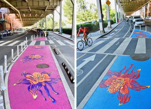 Street Murals by BroCoLoco seen at Georgetown, Washington - Georgetown Waterfront Trail Paintings