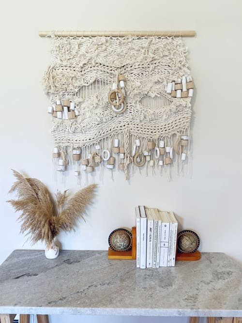 Wall Hangings by Emily Barton Design seen at Creator's Studio, Greenville - Sculptural Nautical Inspired Weaving