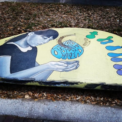 Street Murals by Shumaker Art seen at East Robinson Street & Summerlin Avenue, Orlando - Only Rain Down The Drain