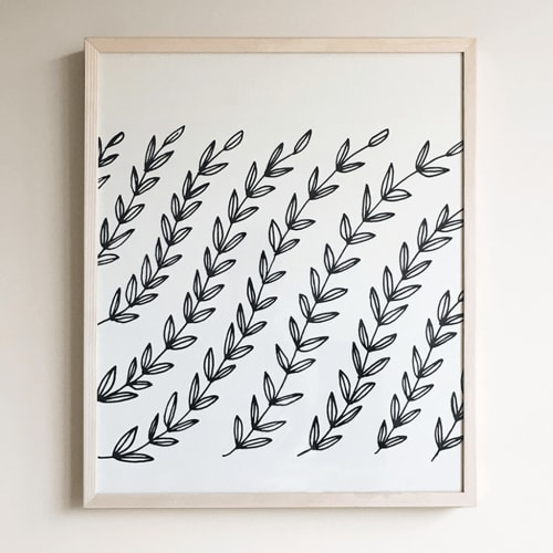Wall Hangings by Little Korboose seen at Private Residence, Cleveland - Vines | Framed Textile