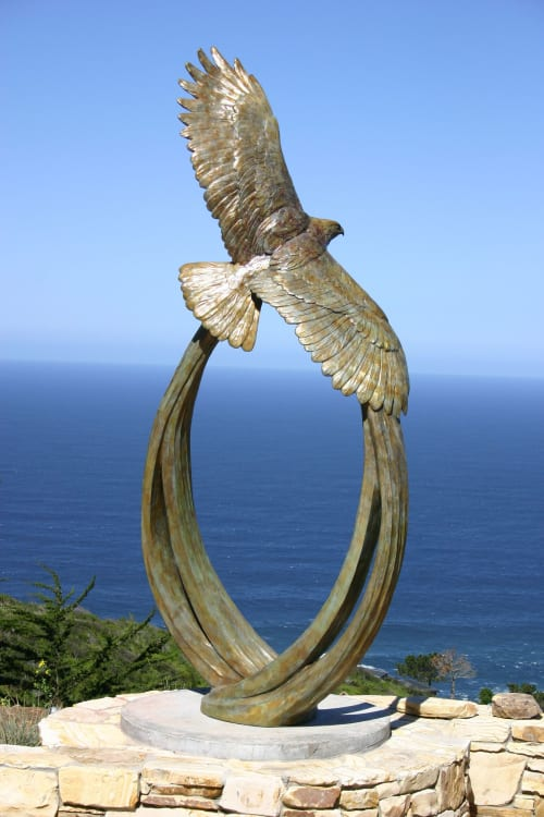 Public Sculptures by Stajcar seen at Private Residence, San Diego - Red Rover