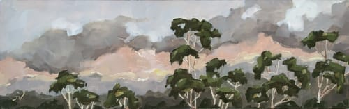Paintings by Fiona Verdouw Art seen at Private Residence - 'Treetops at Twilight' Framed Oil Painting