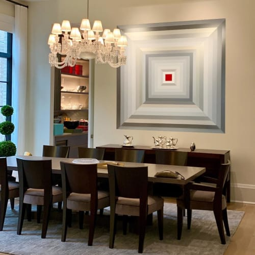 Paintings by Adriana Dorta seen at Private Residence, Chicago - Acrylic paint on canvas