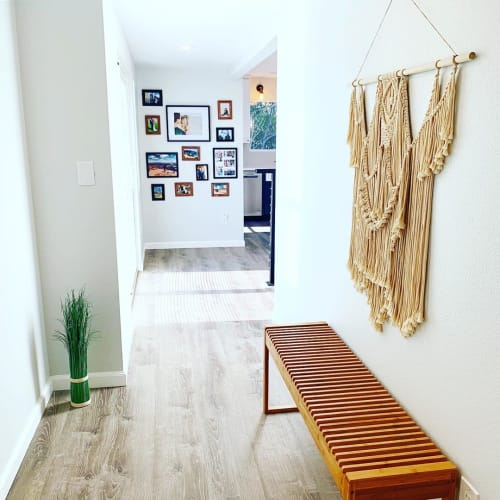 Macrame Wall Hanging by Love & Fiber seen at Private Residence, San Diego - Large Bohemian Macrame
