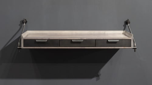 Furniture by Amuneal seen at Nob Hill, San Francisco - 3 Drawer Knife Edge Console
