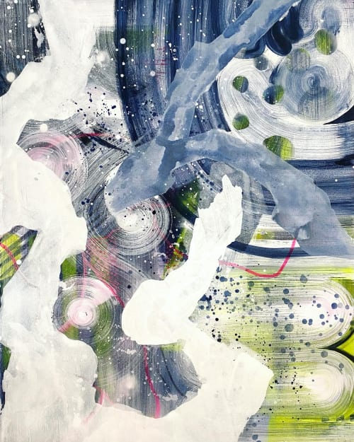 Abstract mixed media painting on canvas | Paintings by Lily Keller