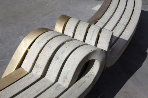 Furniture by Bohinc Studio seen at Golborne Road, London - Friendship Bench