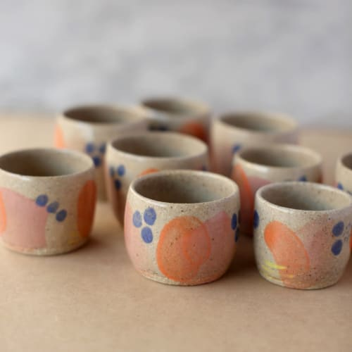 """Cups by Summer Freckles seen at Private Residence, Sunshine Coast - """"Abstract Expresso Mugs"""""""