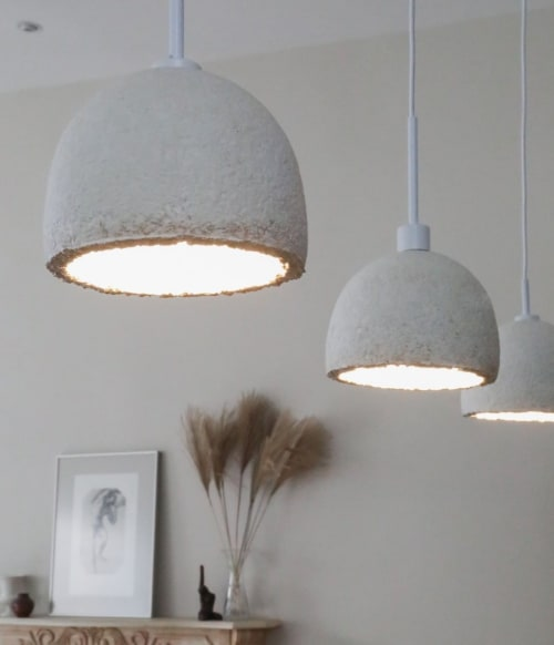 Pendants by Danielle Trofe Design seen at Private Residence, New York - MushLume Cup Light Pendant