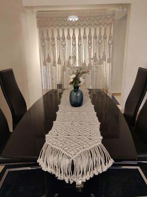 Linens & Bedding by Weya Macrame seen at Creator's Studio, Masr Al Jadidah - Macrame Table Runner