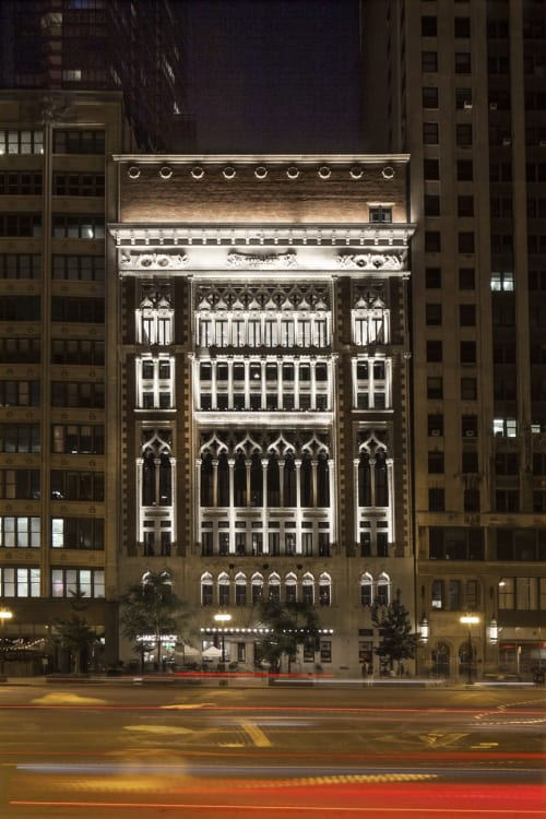 Architecture by Henry Ives Cobb seen at Chicago Athletic Association, Chicago - Architecture