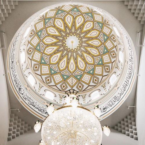 Murals by JAVID JAH seen at Madinah Masjid, Toronto - The Dome of Madinah Masji