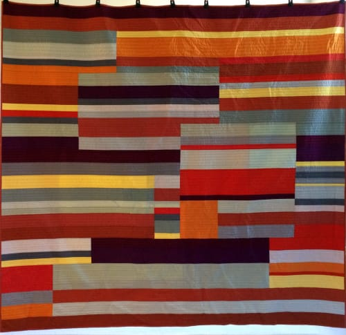 Linens & Bedding by Ramekin Quilts seen at Private Residence - United States - Mid-Century Modern Linear Quilt