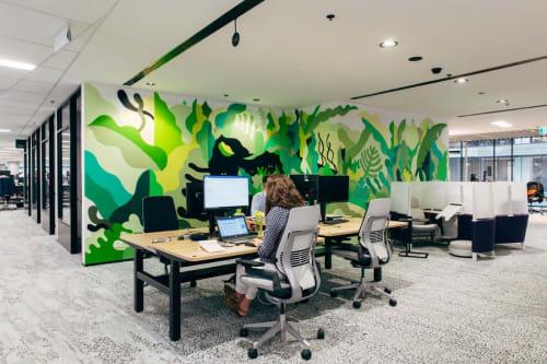 Murals by FIKARIS seen at CBD, Melbourne - Accenture