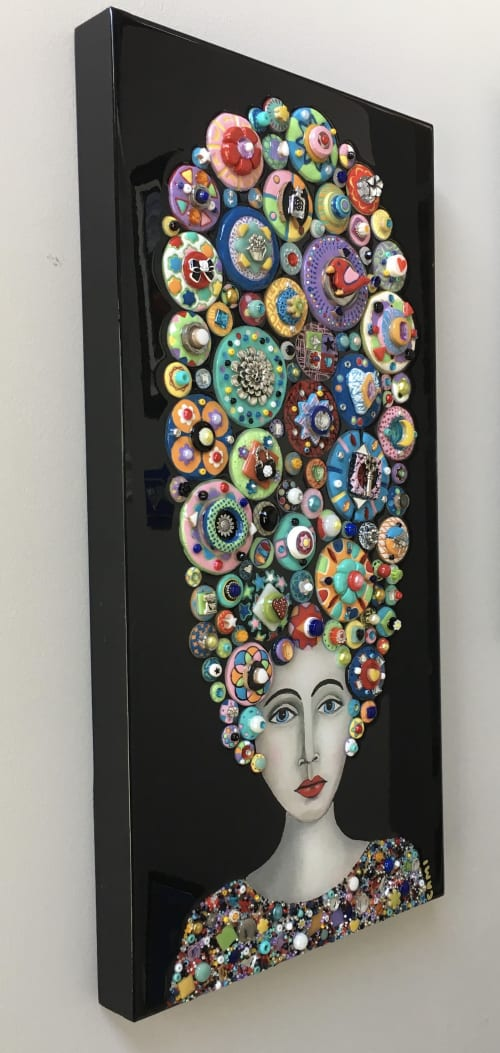 """Art & Wall Decor by Cami Levin seen at Private Residence, Menifee - """"Blooming Muse"""" - 12"""" x 24"""""""