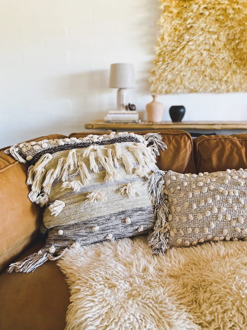 Pillows by All Roads seen at Morongo Valley House, Morongo Valley - Woven Pillows