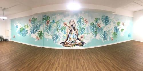Murals by Hannah Adamaszek seen at Seven Chakras Yoga Studio, Rochester - Seven Chakras