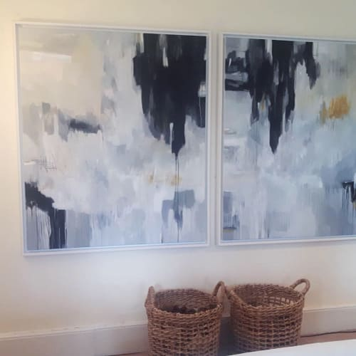 Paintings by Oliver Hilton seen at Private Residence, Papworth Everard, Papworth Everard - Diptych - Abstract Painting