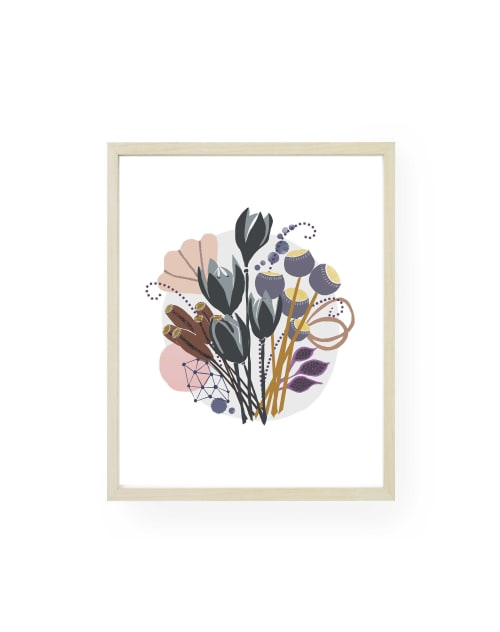 Paintings by Birdsong Prints seen at Creator's Studio, Denver - Botanical Print, Floral Painting