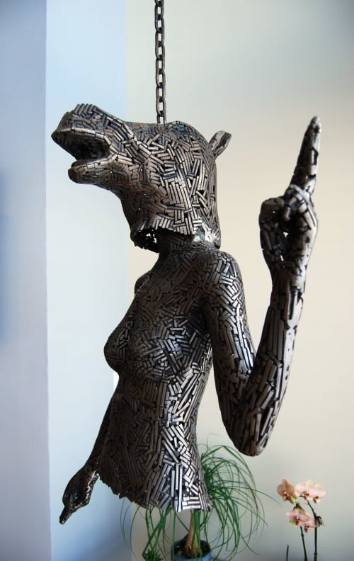 Sculptures by Andrew Miguel Fuller • Sculpture seen at Private Residence, San Francisco - How to ring a muted bell