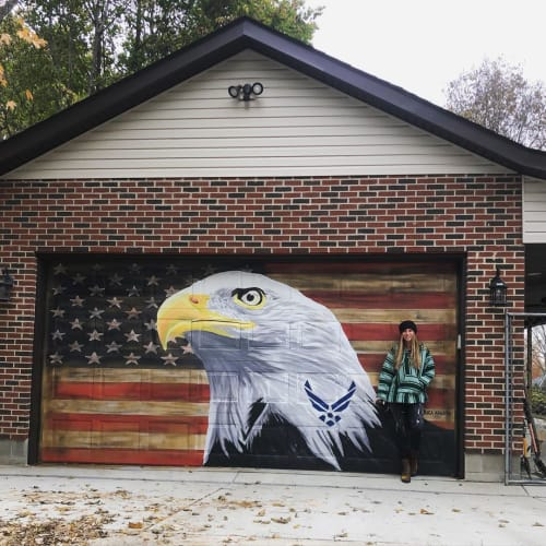 Murals by Erica Arndts seen at Private Residence, Dayton - Eagle Mural