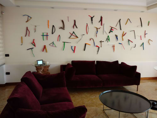 Sculptures by CARMINE REZZUTI seen at Private Residence, Naples - ALFABETO ARCAICO