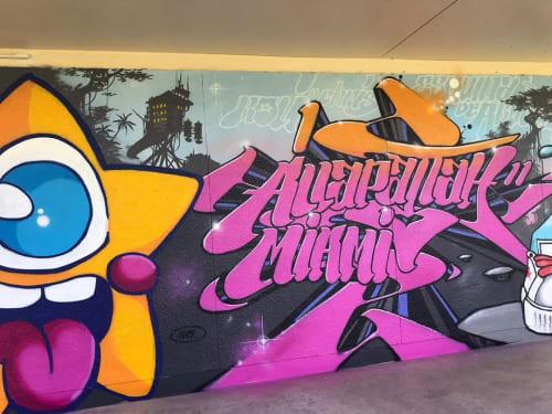 Murals by FreakyKissDesigns seen at Comstock Elementary School, Miami - Wall mural