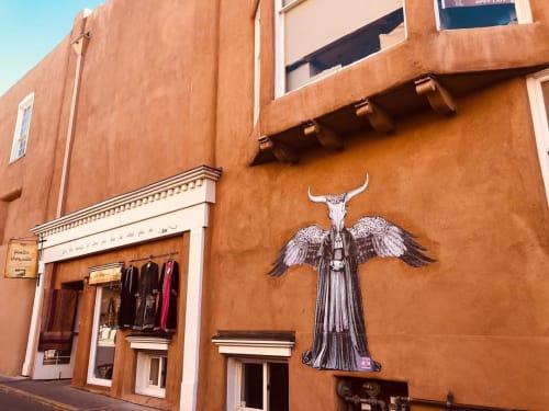 Murals by Made of Hagop seen at Santa Fe, Santa Fe - Desert Queen