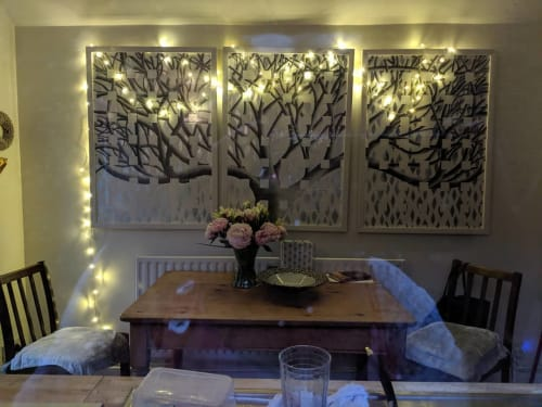 Paintings by Lorraine Thorne seen at Private Residence, London - Beatrice's Tree