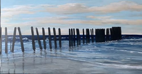 Paintings by Holly Blanton Fine Art seen at Holly Blanton Art, Atlantic Beach - Mayport Poles