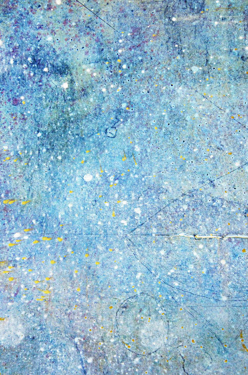 """Paintings by Virginia Bradley Art seen at Private Residence - Catena 7, oil, graphite, gold on birch panel, 48""""x36""""x2.5"""""""