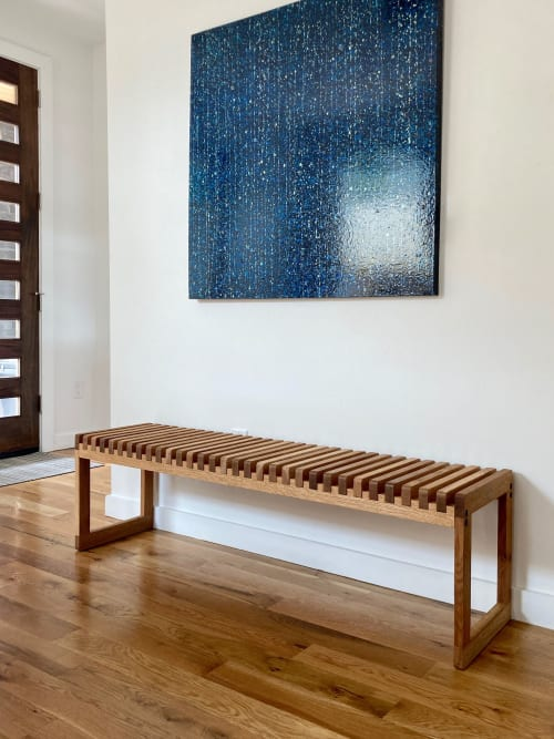 Benches & Ottomans by Austen / Morris seen at Private Residence, Denver - Slat Bench