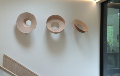 "Sculptures by Yvonne Mouser seen at Private Residence, San Francisco - ""Three Trees"""
