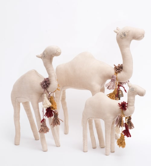 Art & Wall Decor by Tamar Mogendorff seen at 443 Greenwich St, New York - Camels with Wool tassels