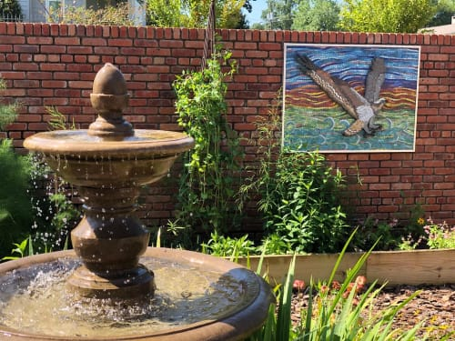 Wall Hangings by Gila Mosaics Studio seen at Private Residence, Pensacola - Osprey, Garden Mosaic