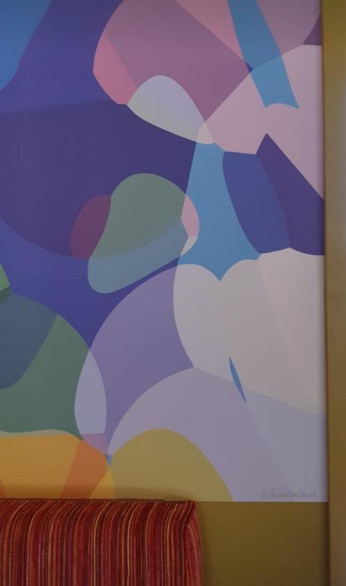 "Wallpaper by Shandra Smith seen at Hotel Zed Kelowna, Kelowna - ""Underwater"" wall mural"