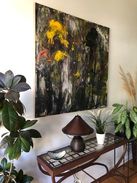 Paintings by Rita Vilma seen at Private Residence, Marietta - Zone Humide