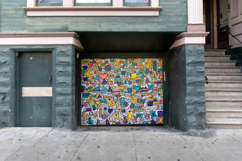 Street Murals by Elliott C Nathan seen at 287 Church Street San Francisco, CA, San Francisco - All The Things Mural