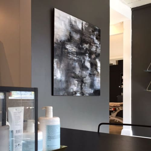 Paintings by Anett Henriksen seen at Wam Klinikken, Drammen - Painting (Abstract)