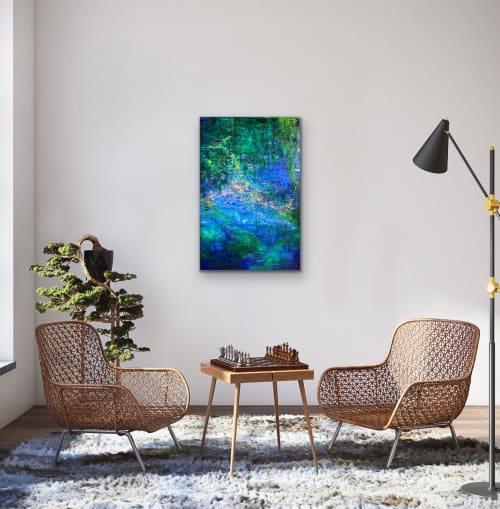 Paintings by Maria-Victoria Checa Art seen at Private Residence, Nice - Secret Garden