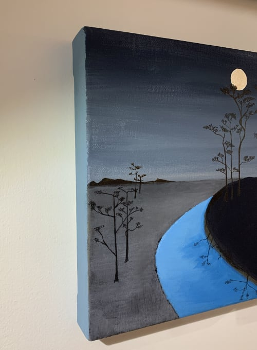 Paintings by Marco Domeniconi Studio seen at Creator's Studio, New York - Meditations in an Emergency. Moon.