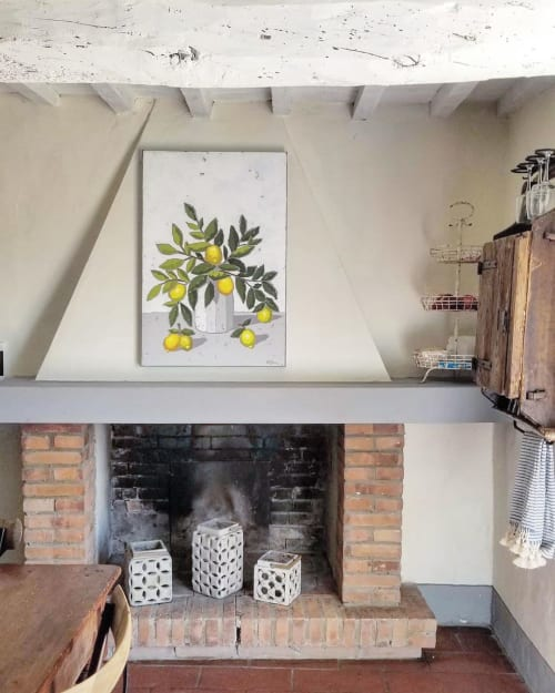 Paintings by Christie Younger seen at Private Residence - Italian Lemons