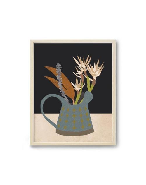 Paintings by Birdsong Prints seen at Creator's Studio, Denver - Scandinavian Modern Art Print, Floral Illustration