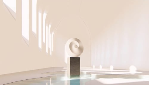 Sculptures by Yoko Kubrick seen at California - Omphalos