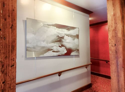 """Paintings by Jessica Dunegan seen at Footlight Players Theatre, Charleston - """"Open to Receive"""""""